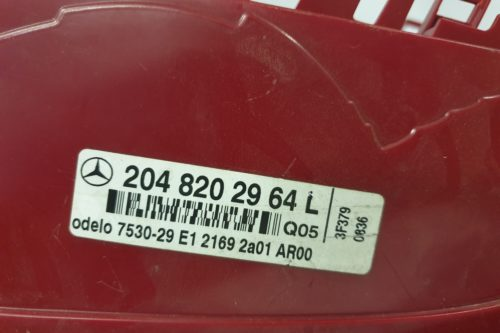 2009 Mercedes A204 RHS Tail light, smoked